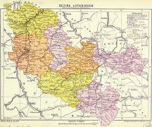 Carte du Bezirk Lothingen